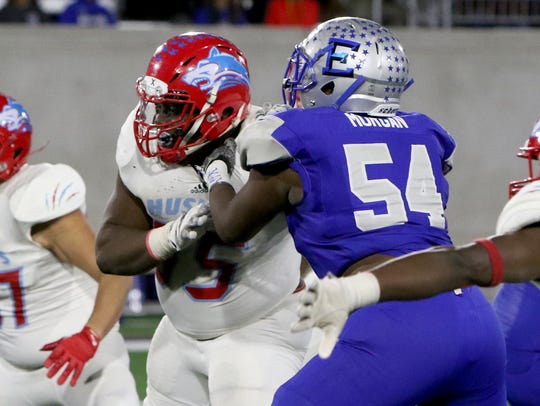 Hirschi's Lloyd Murray tries to get away from Lubbock
