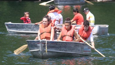 file photo: row boats on Hessian Lake, July 6, 2013