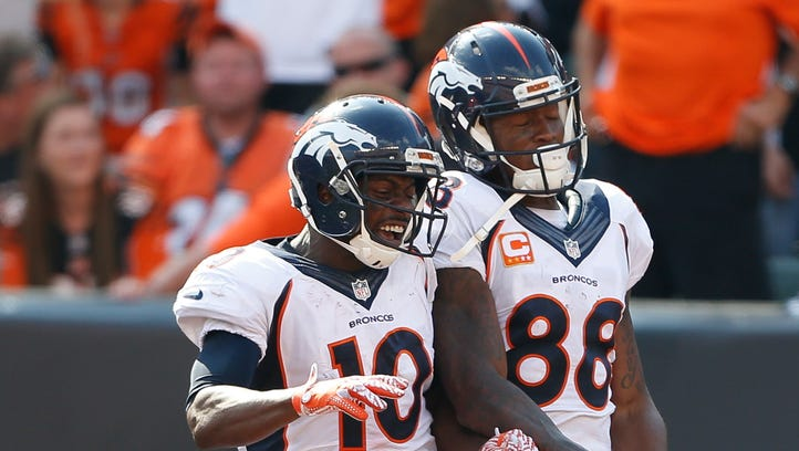 Broncos' Sanders, Thomas thrive off competing against each other