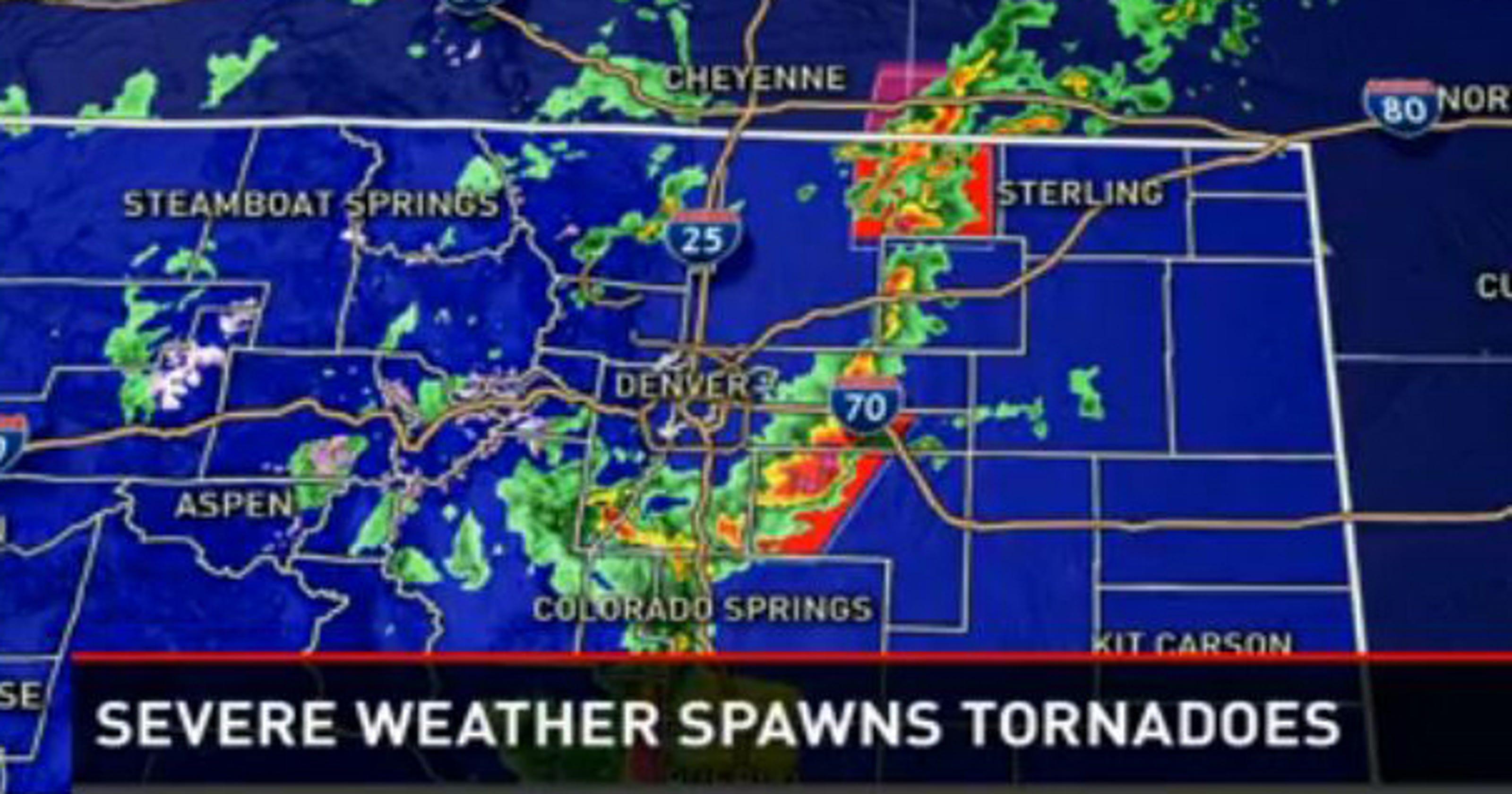 Severe Storms Spawn Tornadoes In Colorado