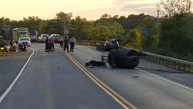 A Wayne County teen was killed when a large barbecue smoker dislodged from a motor home and struck an oncoming car on Route 31 on July 2, 2016.