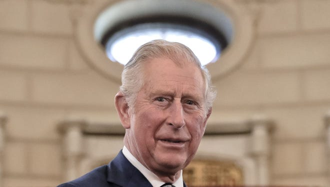 Prince Charles at Cotroceni Presidential Palace in Bucharest, Romania, on March 29, 2017.