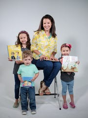 Maria Dismondy, 37, of Novi with her children, Ruby, left, 7, Dexter, 2, and Leah, 4.