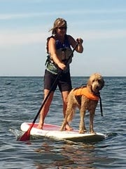 "A ""SUP with your Pup"" demonstration will start at 1 p.m. Saturday in Rome at Mutts Yappy Hour-Paws for a Cause."
