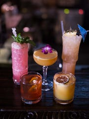 Some of the pretty cocktails on the new menu at UnderTow