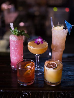 Some of the pretty cocktails on the new menu at UnderTow in Phoenix.