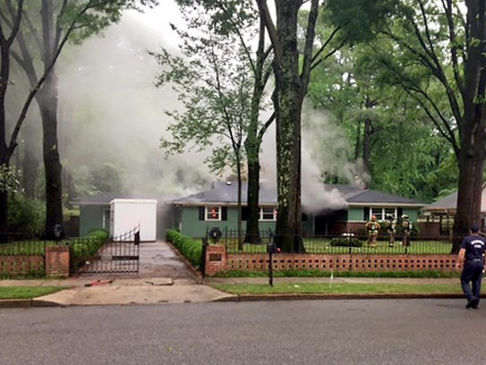 In this cellphone image provided by a neighbor, Memphis