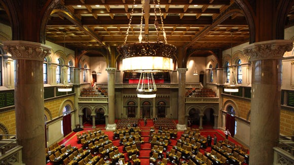 The New York state Assembly chambers in the state Capitol