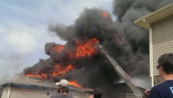 Thirty-three people were displaced following a fire in Centerton, according to KFSM.