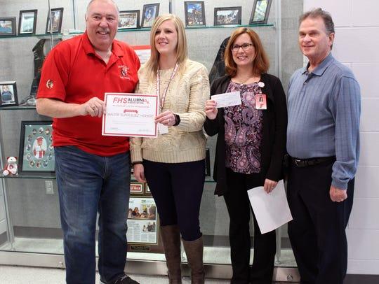 The Fairfield Alumni Association presented a $1,000