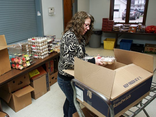 Amy Brink, a volunteer at the Coshocton Salvation Army,