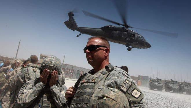 This file photo taken on June 8, 2010 shows U.S. forces in southern Afghanistan.