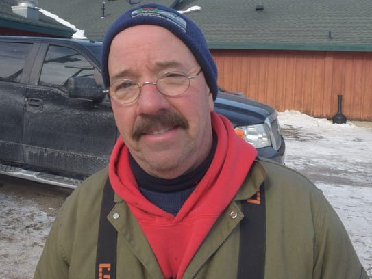 Tim Kroeff, DNR Fisheries Technician.
