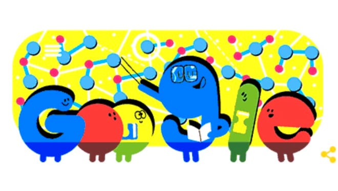 Google's Doodle in the U.S. honoring National Teacher's Day.