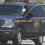 A file photo of a Nevada Highway Patrol vehicle. A three-vehicle accident injured three drivers Wednesday night. The crash occurred along Interstate 580, between Bowers Mansion Road and the Galena Creek Bridge.