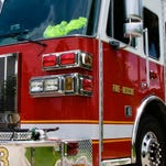 A file photo of a fire engine. Sparks firefighters and police were investigating a fire that sparked at an abandoned home early Tuesday on I Street.