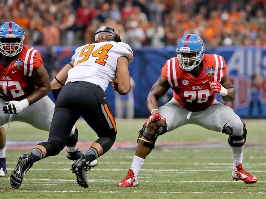 Ole Miss' Laremy Tunsil could be the No. 1 pick in the NFL Draft.