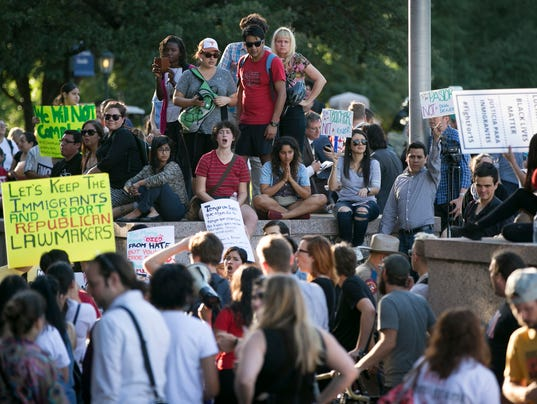 Texas Capital Protesters Sanctuary Cities Bill
