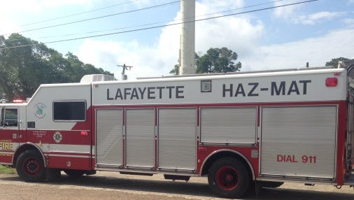 Authorities with the Lafayette Haz Mat Team, the Carencro Fire Department and the Lafayette Parish Sheriff's Department were called to an area off Cockpit and Gendarme Roads Sunday morning when neighboring homeowners noticed an oil solution coming from a storm drain in a coulee.