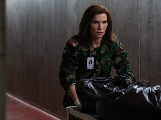 "Julianna Margulies as Dr. Nancy Jaax in ""The Hot Zone."""