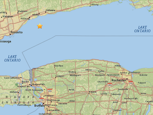 Earthquake near Ajax, Canada