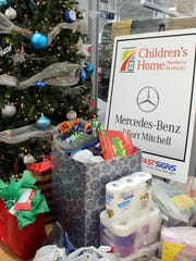 Christmas presents collected by the employees of Mercedes-Benz
