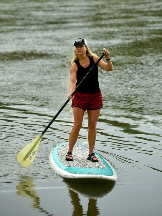 Paddle boarding Missouri River