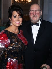 Co-chairs Angel and Steve Cropper attend The Tennessee Waltz held at the Capitol Saturday April 28, 2018.