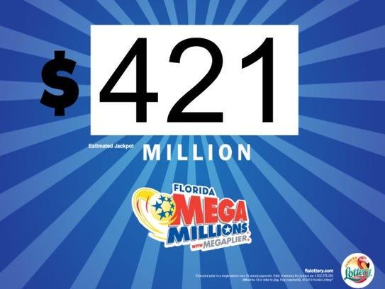 Friday's Mega Millions is worth $421 million.