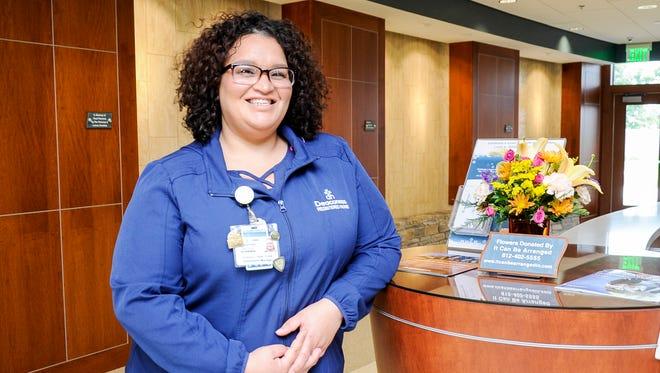 Kintina Chapman, nurse, Deaconess Hospital.