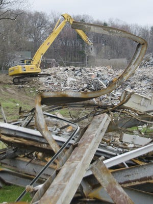 File photo of Madison Junior High School demolition