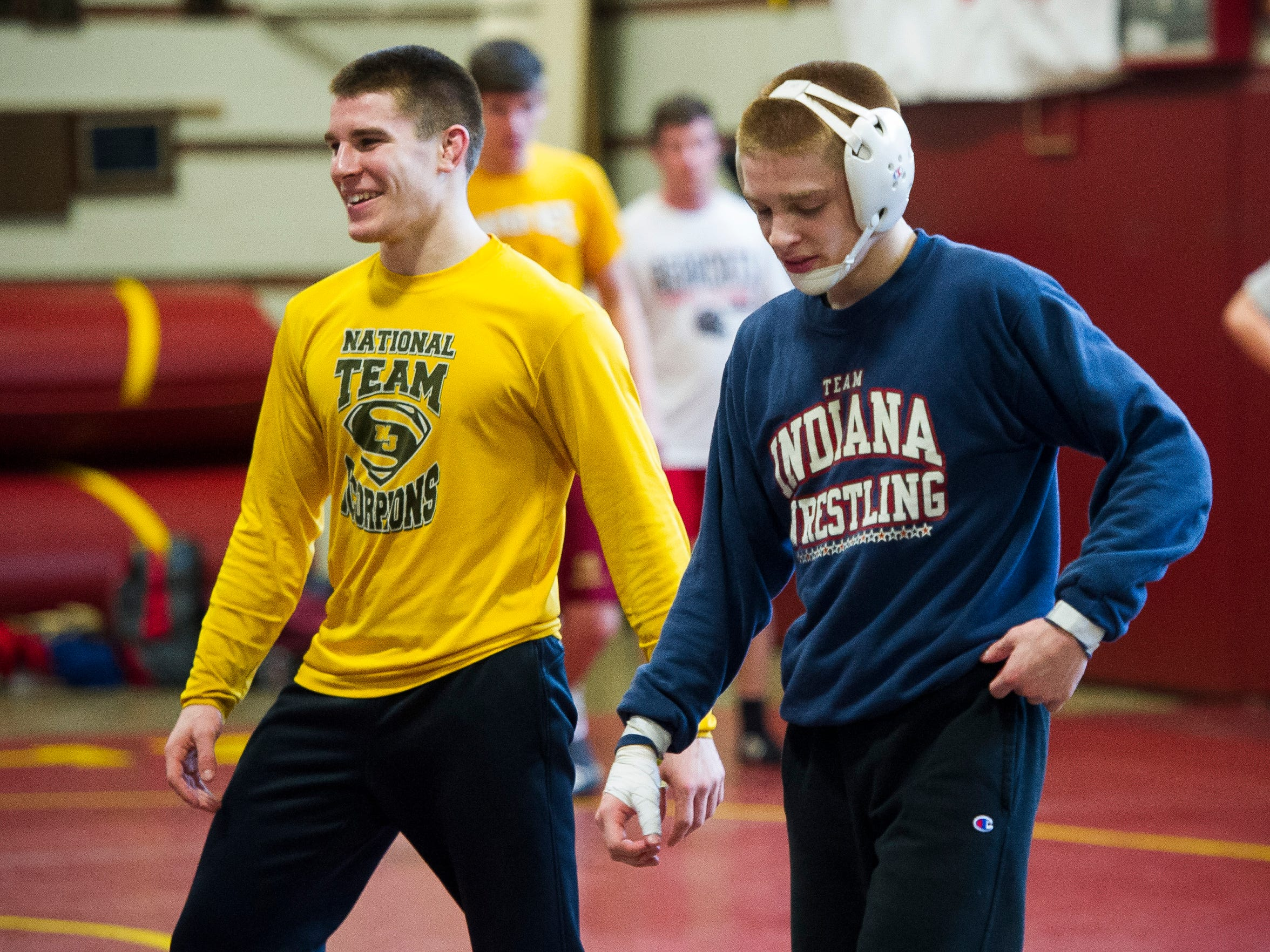 Mater Dei wrestlers Joe Lee, left, and his brother,
