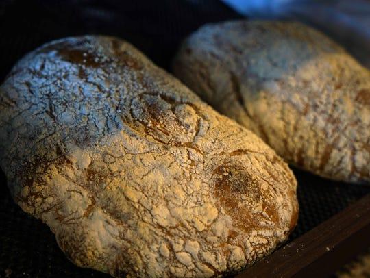 Fresh bread for sale at the new  De La Coeur CafeŽ