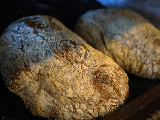 Fresh bread for sale at the new  De La Coeur CafeŽ et Boulangerie in Talleyville.