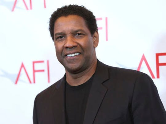 Denzel Washington arrives at the AFI Awards at the Four Seasons Hotel on Friday, Jan. 6, 2017, in Los Angeles.