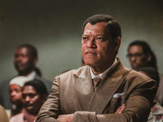"This image released by BET shows Laurence Fishburne as Nelson Mandela in a scene from, ""Madiba,"" a six-hour miniseries premiering on Wednesday, Feb. 1."