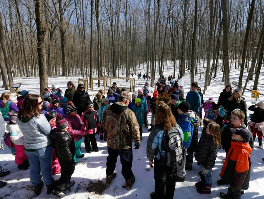 Scout troops and 4H groups met in the sugar bush at Riveredge Nature Center in Saukville in 2018.