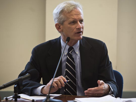 Vermont Gas CEO Don Rendall answers questions at a