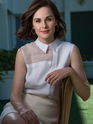 Michelle Dockery stars as  Lady Mary in 'Downton Abbey' on PBS 'Masterpiece.' The series returns Sunday and her character has ended her mourning period.