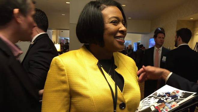 Rochester Mayor Lovely Warren at the U.S. Conference of Mayors on Thursday in Washington, D.C.
