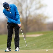 Doyle Kelly of St. Mary's Springs Academy golfs at Rolling Meadows Golf Course in Fond du Lac during the St. Mary's Springs golf invite Wednesday April 27, 2016.