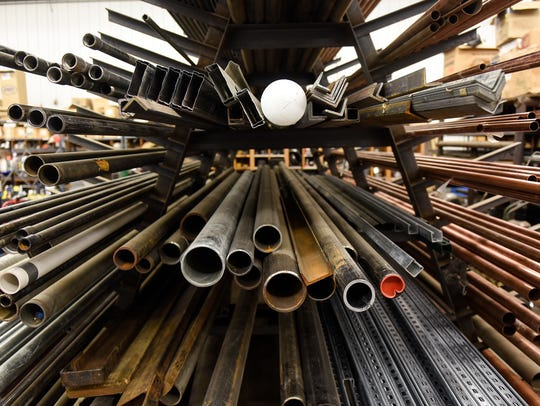 Materials are stored in a building El-Jay Plumbing