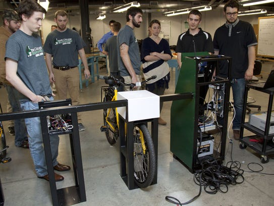 Students from the engineering department at York College