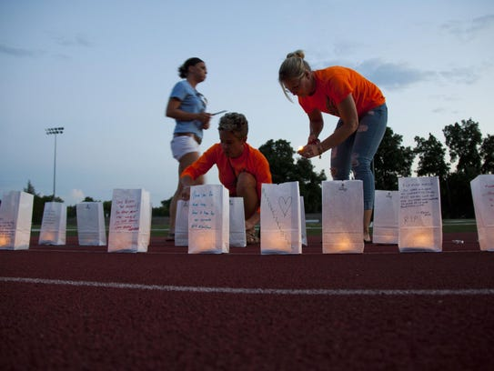 Family and friends gathered Friday at Dover High School