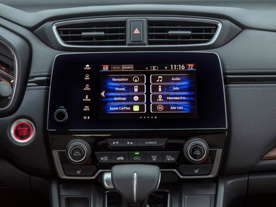 honda cr v 39 s excellence marred by balky controls. Black Bedroom Furniture Sets. Home Design Ideas