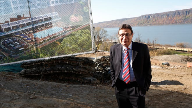 Developer Martin Ginsburg at the future site of the River Tides at Greystone apartment complex in Yonkers last year.