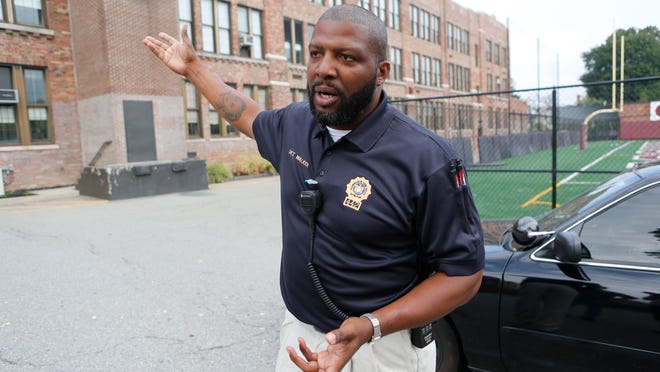 Detective Edward Walker, the school safety officer at Ossining High School, said officers responded in seconds during a lockdown Sept. 24.