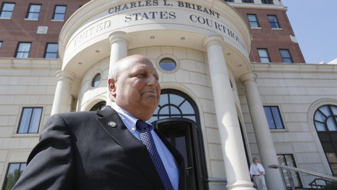 Thomas Libous leaves the White Plains Federal Courthouse in White Plains on July 1, 2014.