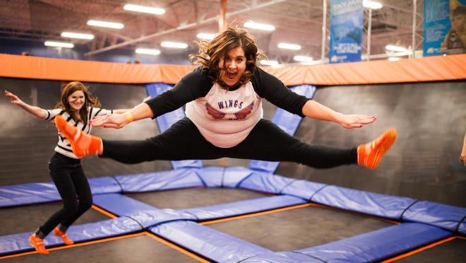 Anne Falgout at Sky Zone.