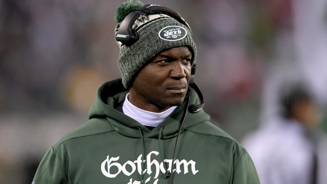 New York Jets head coach Todd Bowles looks on during the first half of an NFL football game against the Houston Texans, in East Rutherford, N.J. All indications are that Bowles will be fired by the Jets sometime after the clock hits zeroes on the scoreboard Sunday, Dec. 30, 2018.